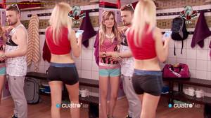 Sara Gómez, culo en shorts