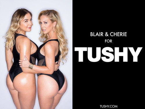 Tushy.com – Blair Williams Cherie Deville Anal Threesome With My Boss [October 23, 2017]