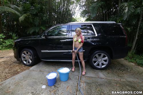 BangBrosClips.com – Marsha May Backyard Carwash With Marsha May [August 14, 2016]