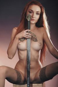 Sophie Turner nude Game of Thrones season 8 promo poster HQ