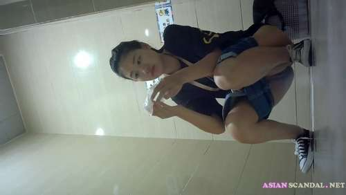 Chinese Lady In Toilet #12