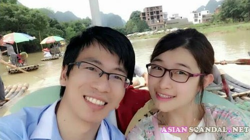 Asian College girlfriend gets fucked hard on vacation