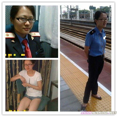 Rail Staff and boyfriend sex video homemade