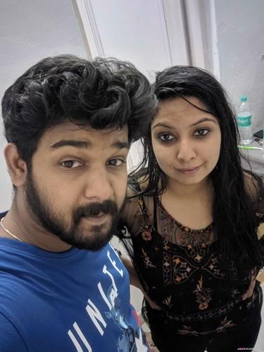 Indian girl Srishti posing herself for rich videsi customer before sex
