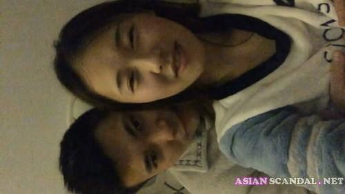 Cute Asian Thai High Schoolgirls Student Couple In School